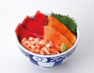まぐろ・サーモン・ネギトロ三色丼のイメージ