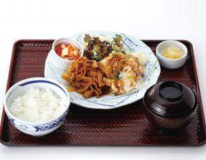 油淋鶏と旨辛ポーク定食のイメージ