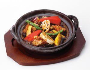 若鶏根菜黒酢あんかけ定食のイメージ