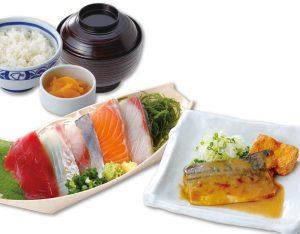 お刺身とさば味噌煮定食のイメージ