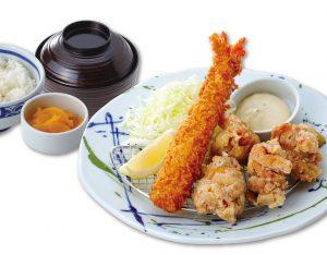 海老フライと鶏の唐揚げ定食のイメージ