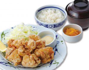 若鶏の唐揚げ定食のイメージ