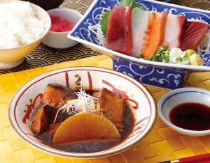 本日の煮魚とお刺身御膳のイメージ