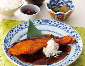 サーモンの照り焼き定食のイメージ