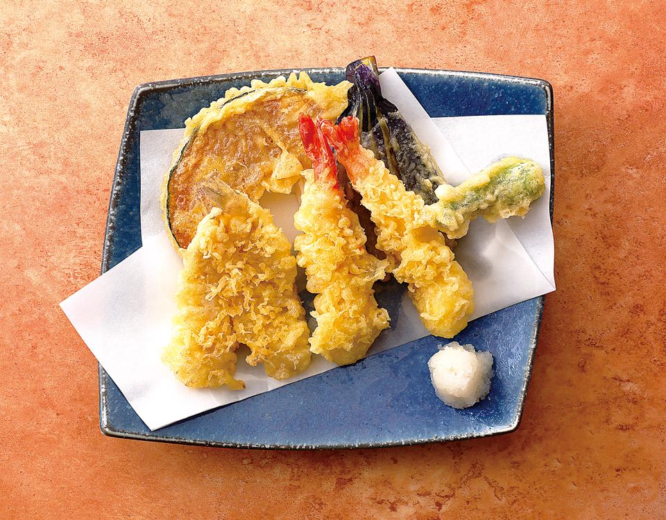 天ぷらとしらす丼