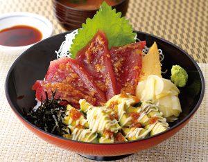 マグロとアボカドの醤油糀漬け丼のイメージ