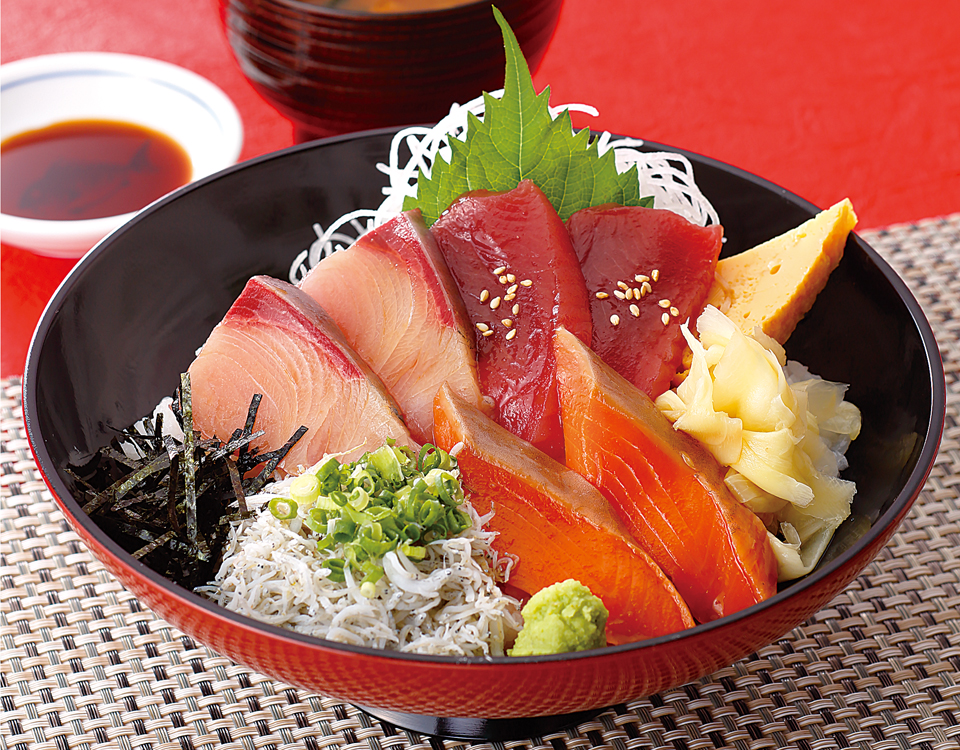 海鮮三種漬け丼