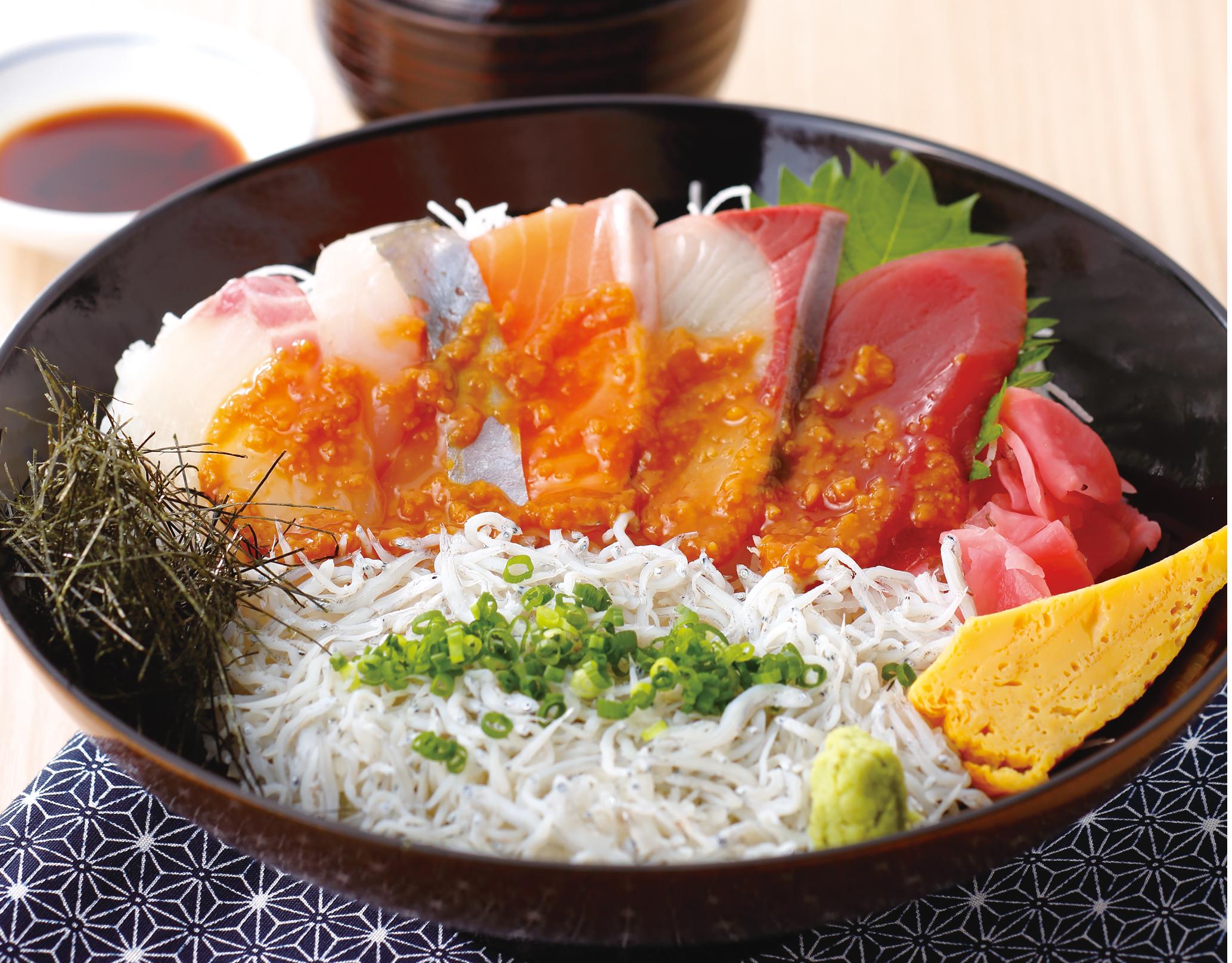 海鮮醤油糀漬け丼